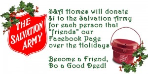 S&A Homes donates to Salvation Army