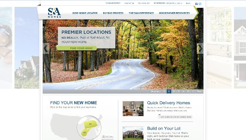 SA Homes website