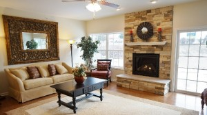 Family Room in New Stonefield Model