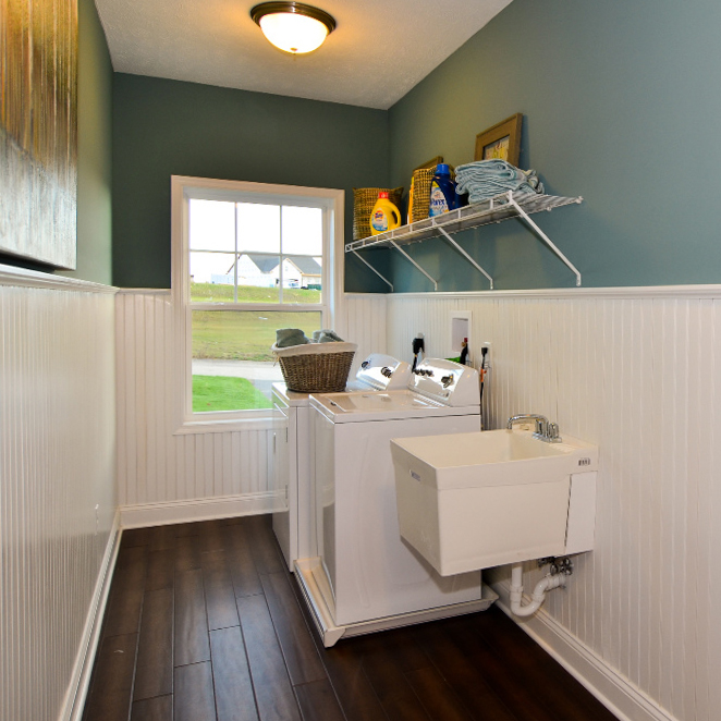 Laundry Room Location Options from S&A Homes