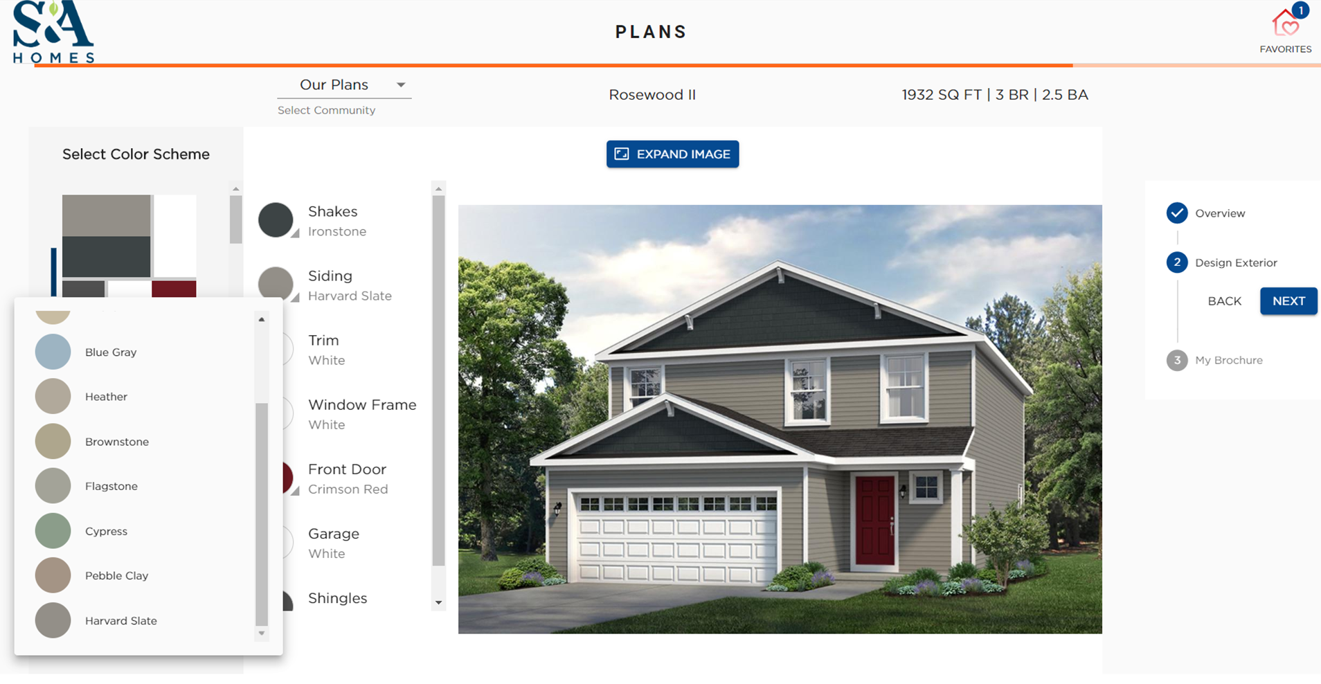 S&A Homes Introduces Interactive Exterior Color Tool
