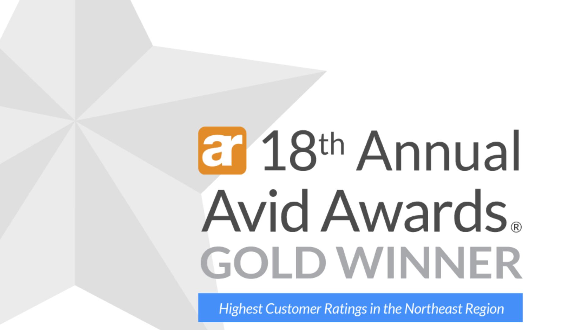 Avid Gold Award Logo S&A Homes
